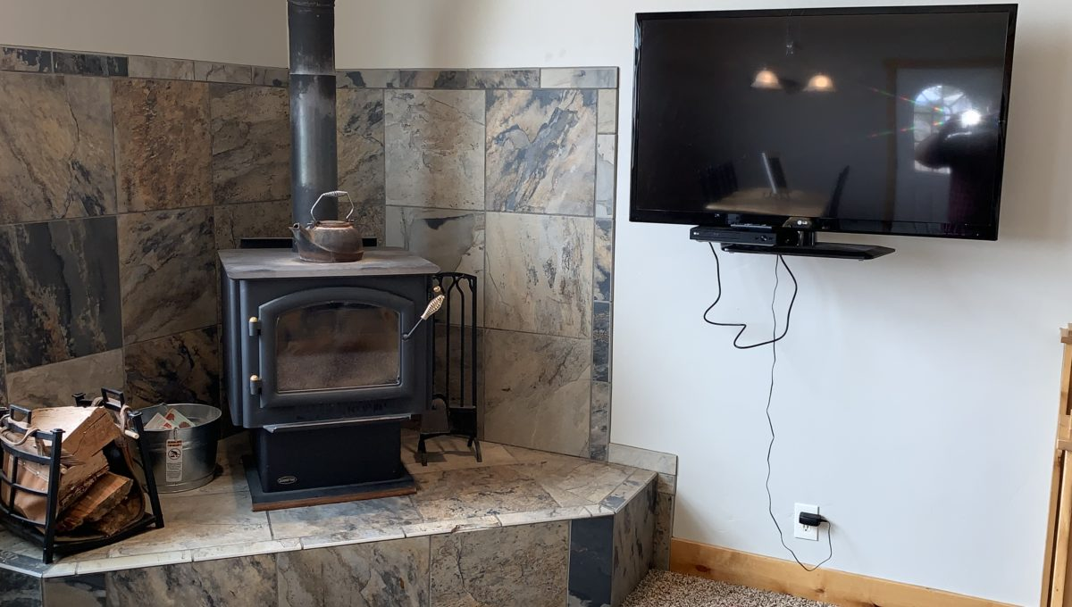 Wood Burning Stove in Great Room